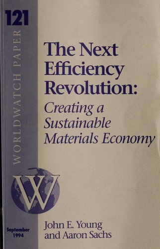 The Next Efficiency Revolution by Young, John E. Sr., Aaron Sachs, Ed Ayres