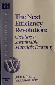 Cover of: The Next Efficiency Revolution | Young, John E. Sr., Aaron Sachs, Ed Ayres