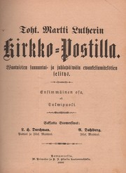 Cover of: Toht. Martti Lutherin Kirkko-Postilla by