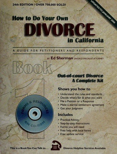 How to do your own divorce in California (2000 edition