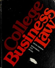 Cover of: College business law