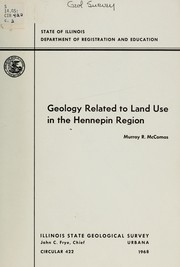 Cover of: Geology related to land use in the Hennepin region