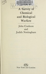 Cover of: Survey of Chemical and Biological Warfare | John Cookson
