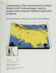 Cover of: Constructing a three-dimensional geologic model of the Virttaankangas Aquifer, Southwestern Finland | Aki Artimo