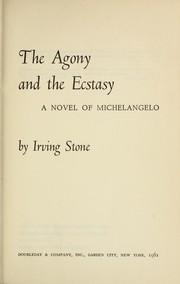 The agony and the ecstasy by Stone, Irving