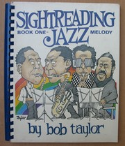 Cover of: Sight-Reading Jazz Bk. 1 by Bob Taylor