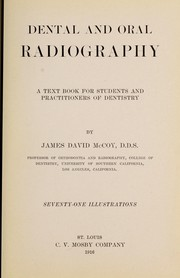 Cover of: Dental and oral radiography
