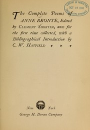 Cover of: Complete poems of Anne Brontë