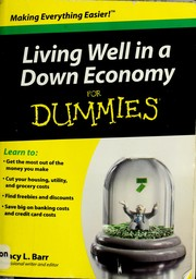 Cover of: Living well in a down economy for dummies | Tracy L. Barr