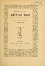 Cover of: Christian year | Thomas Ken
