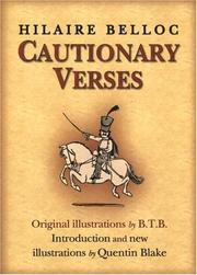 Cover of: Cautionary verses