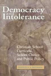 Cover of: Democracy and Intolerance