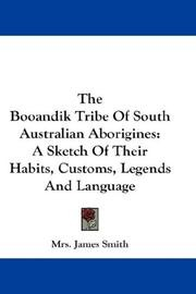 Cover of: The Booandik Tribe of South Australian Aborigines |