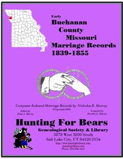 Cover of: Buchanan Co Missouri Marriages 1839-1855