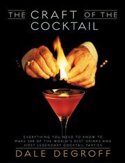 Cover of: The Craft of the Cocktail