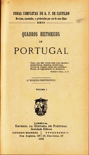 Cover of: Quadros historicos de Portugal