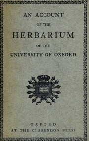 Cover of: An account of the Morisonian herbarium in the possession of the University of Oxford