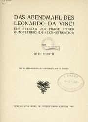 das abendmahl des leonardo da vinci 1907 edition open library. Black Bedroom Furniture Sets. Home Design Ideas