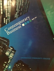 Cover of: Contemporary Business |