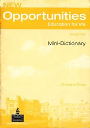 Cover of: New Opportunities: Education for Life - Mini-Dictionary |