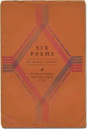Cover of: Six poems