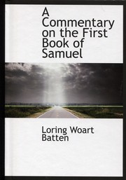 Cover of: A Commentary on the First Book of Samuel |