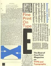 Cover of: Fine print on type |