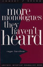 Cover of: More monologues they haven't heard