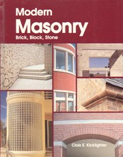 Cover of: Modern masonry | Clois E. Kicklighter