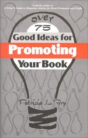 Cover of: Over 75 good ideas for promoting your book