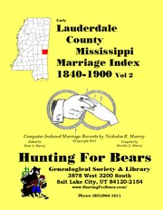 Cover of: Early Lauderdale County Mississippi Marriage Index Vol 2 1840-1900
