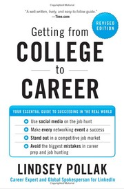 Cover of: Getting from College to Career |