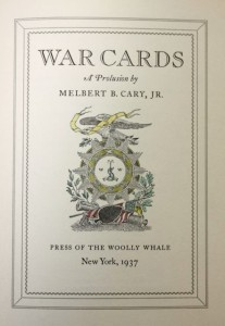 War cards by Melbert Brinckerhoff Cary