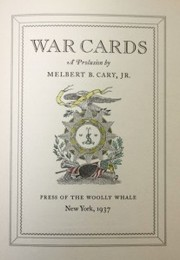 Cover of: War cards by Melbert Brinckerhoff Cary