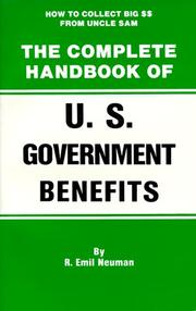 Cover of: The complete handbook of U.S. Government benefits