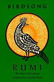 Cover of: Rumi Birdsong: Fifty-Three Short Poems