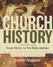 Cover of: Church history