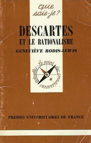 Descartes et le rationalisme by Geneviève Rodis-Lewis