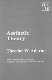 Cover of: Aesthetic Theory (International Library of Phenomenology and Moral Sciences)