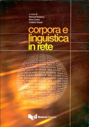 Cover of: Corpora e linguistica in rete
