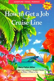 Cover of: How to get a job with a cruise line | Mary Fallon Miller
