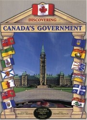 Cover of: Discovering Canada's government