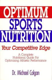 Cover of: Optimum sports nutrition