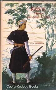 Cover of: Kodavas (Coorgs), their customs and culture