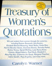 Cover of: Treasury of Women's Quotations
