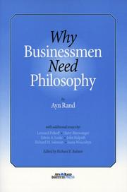 Cover of: Why businessmen need philosophy