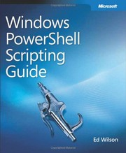 Cover of: Windows PowerShell scripting guide | Ed Wilson