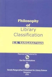 Cover of: Philosophy of Library Classification | S. R. Ranganathan