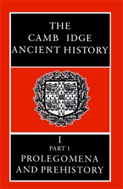Cover of: Cambridge Ancient History Volume 1 [electronic resource]