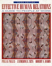 Cover of: Effective human relations